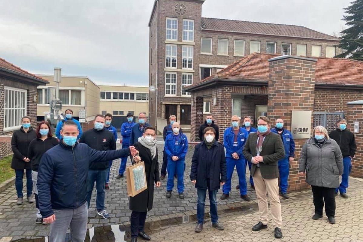 Protest zu der geplanten Schließung des BHW in Braunschweig
