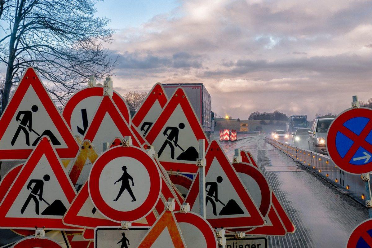 Symbolbild: Baustelle Autobahn
